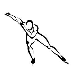 speed skates vector image