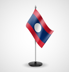 Table flag of laos vector