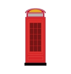 telephone cab england isolated icon vector image