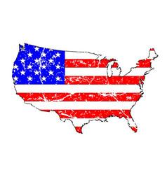 usa grunge flag map vector image