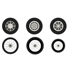 Vehicle wheels vector