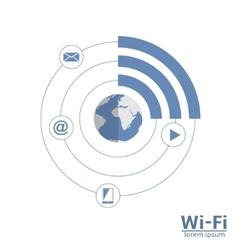 Wi-Fi scheme vector image