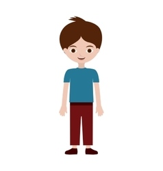 young boy with informal suit vector image