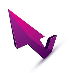 3d abstract symbol with an arrow in the shape of vector