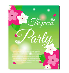 vertical tropical banner with exotic orchid vector image