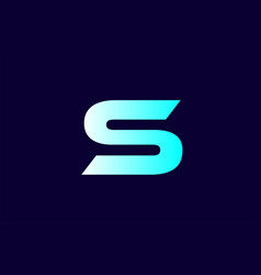 Alphabet letter s blue logo icon template company vector