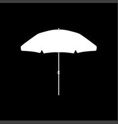 Beach umbrella white color icon vector
