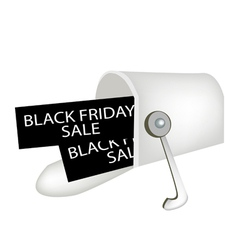 Black friday letters in a gray mailbox vector