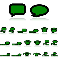 Interaction icons vector