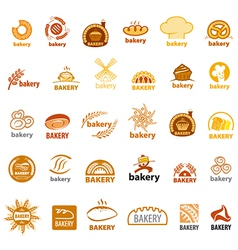 Biggest collection of logos bakery vector