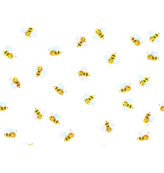 bees seamless vector image