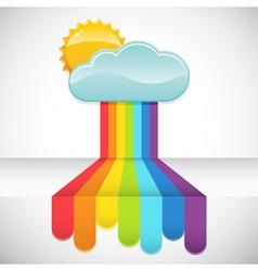 rainbow rain vector image