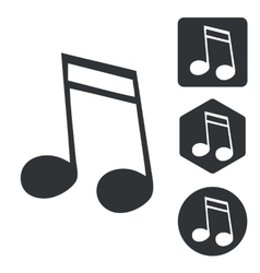 Music icon set 2 monochrome vector