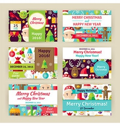 Christmas winter holiday template invitation vector