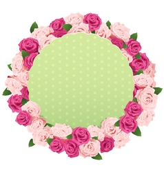 Flower wreath with greeting card vector