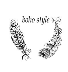 Boho style vector