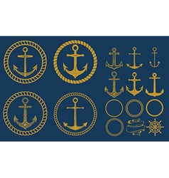 anchor labels set vector image