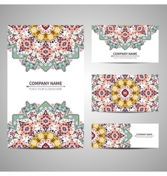 Business colorful card template vector
