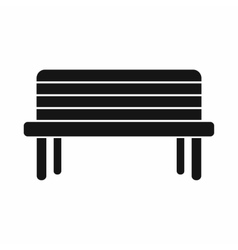 Street bench icon simple style vector