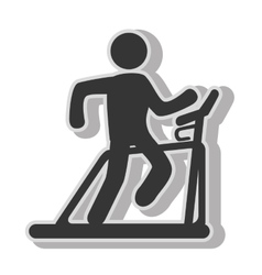 Man trainning cardio vector