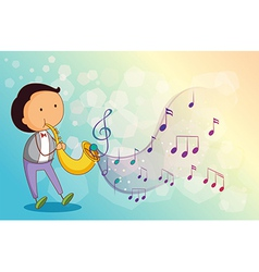 A musician with a trumpet vector image vector image
