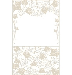 Autumn pattern with maple leaves Template for vector image vector image