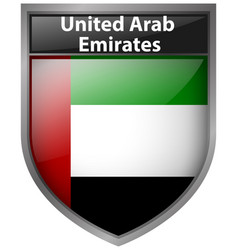 Badge design for flag of united arab emirates vector