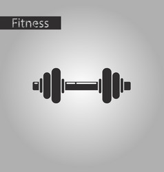 Black and white style icon dumbbell vector
