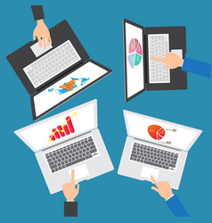 Business people team working on an office vector
