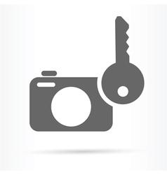 camera image security symbol icon vector image vector image