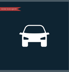 car icon simple vector image vector image