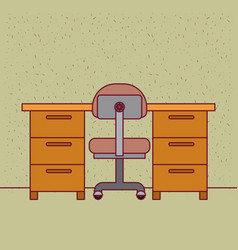 Color background with sparkles work place office vector