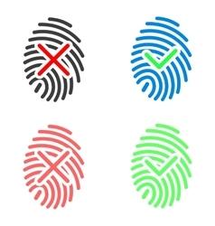 Fingerprint icons set vector image