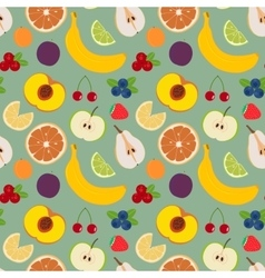 Fruits and berries seamless pattern 4 vector image vector image