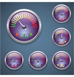 Glass realistic sensor temperature vector image vector image