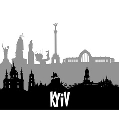 Kiev silhouette vector image vector image