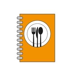Menu cutlery book restaurant design vector