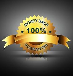 monet back guarantee icon in golden color vector image vector image
