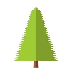 New fir-tree flat icon vector image vector image