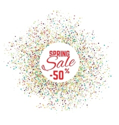 Sale confetti banner on white background Sale vector image vector image