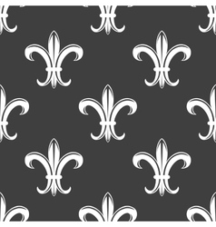 Seamless fleur-de-lis royal white pattern vector