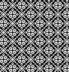 Seamless pattern with ethnic geometric flowers vector image vector image
