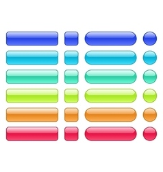 Set of colored web background buttons vector image vector image
