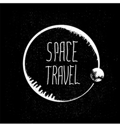 Space travel logo vector