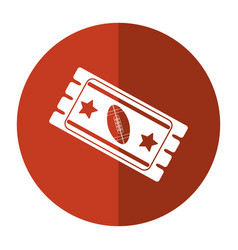 Ticket game american football icon shadow vector