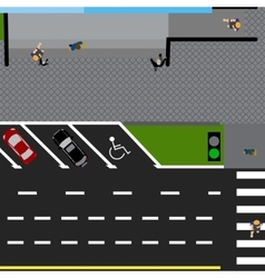 Plot road highway street with the store with a vector