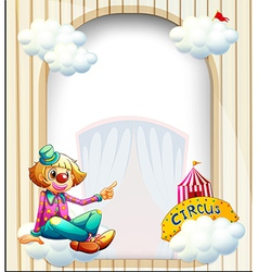 An empty entrance-like template with a clown vector image