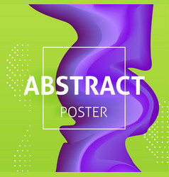 Colorful liquid poster design vector