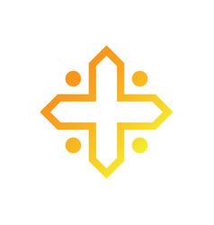 abstract cross logo image vector image