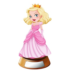 A princess trophy vector